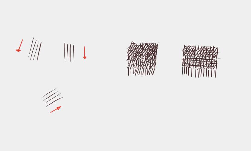 きれいな線の引き方-例手首の線