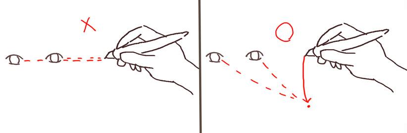 きれいな線の引き方-目線は常に先を見よ