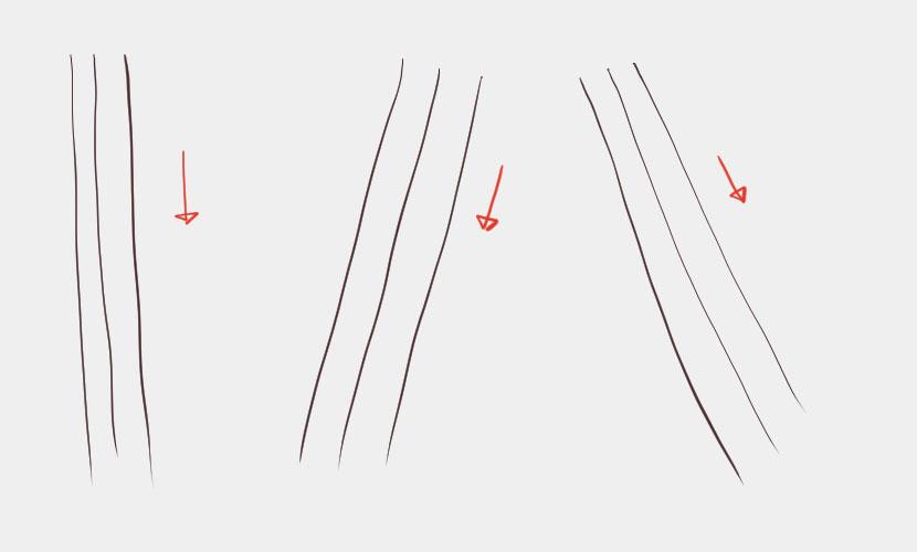 きれいな線の引き方-例肩の線