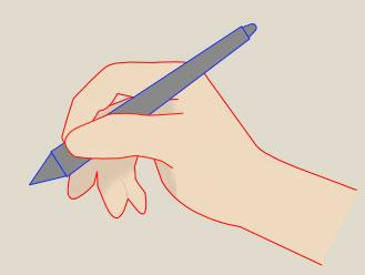きれいな線の引き方-ペンを正しく持つ