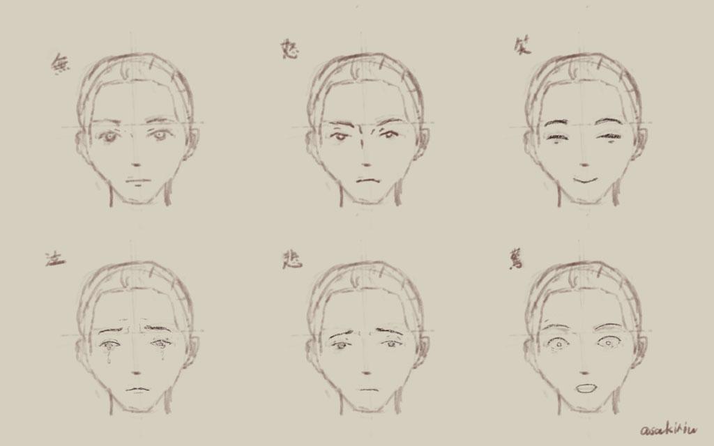 表情の描き方01