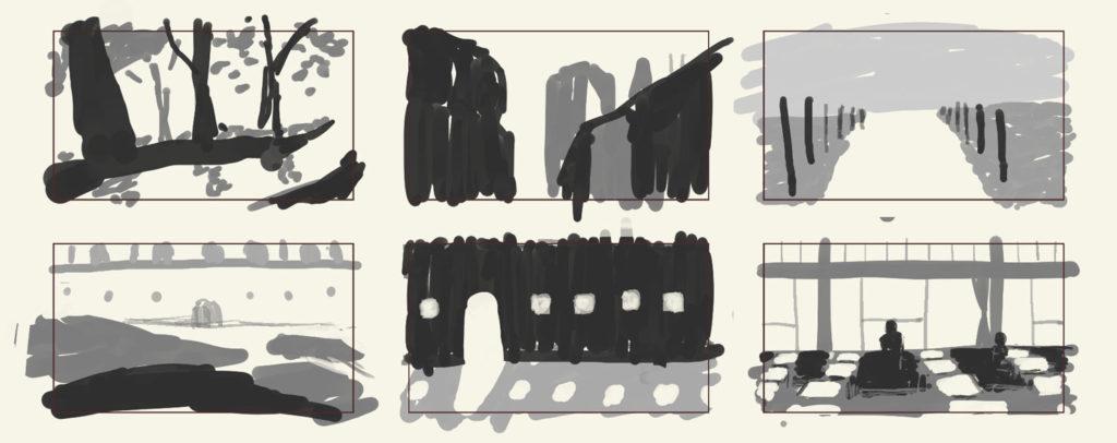 レイアウト・構図の考え方17ヨコのフォーマット背景
